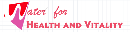 Water for Health and Vitality. header image